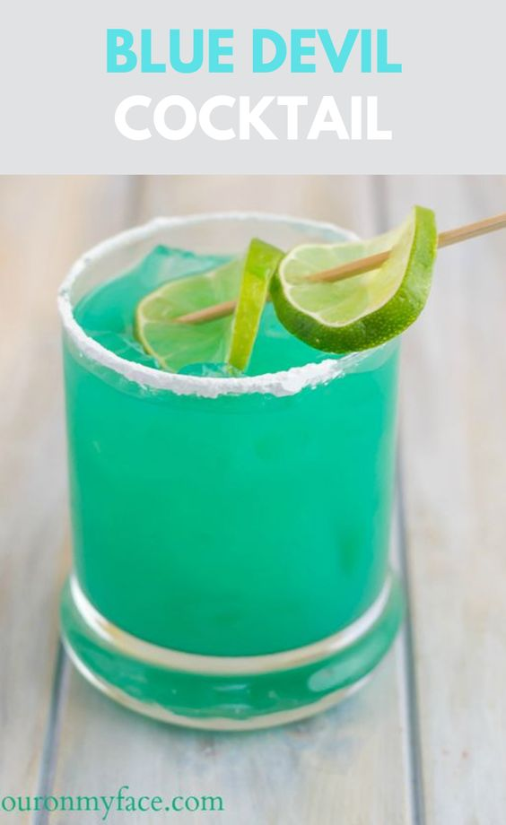 BLUE DEVIL COCKTAIL RECIPE #drink #drinkcocktail