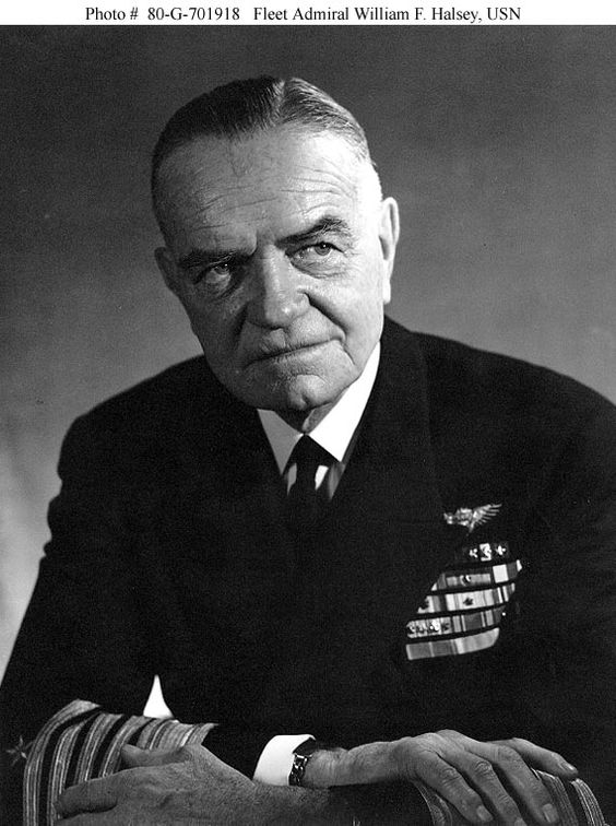 Fleet Admiral William F. Halsey, USN  Photographed circa late 1945 or early 1946.
