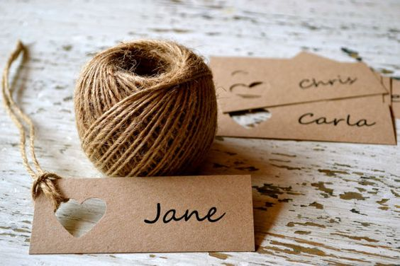 Wedding place cards/name tags/favour bag tags