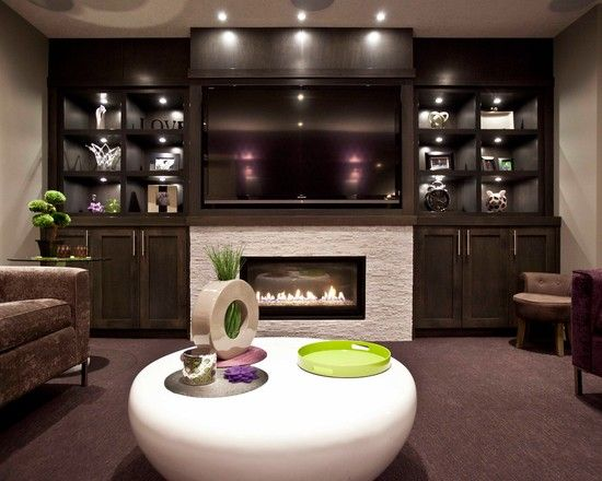 Electric Fireplace Ideas With TV Above