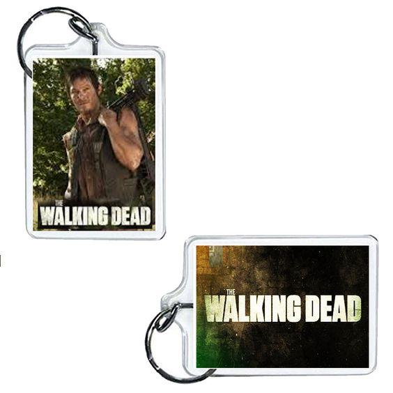 "Daryl Dixon The Walking Dead Acrylic Keychain 2\"" x 1\"""