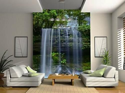 Plant wall modern wall decor and modern interior design for Digital print mural