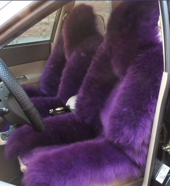 Purple Sheepskin Seat Covers