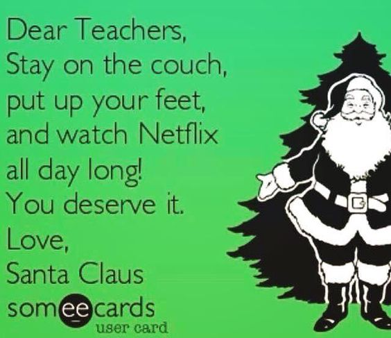 Netflix, Christmas, teacher