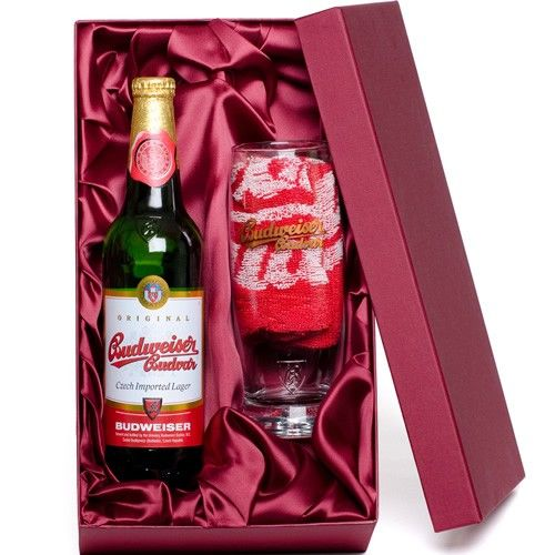 Personalised Beer, Glass and Towel Set - Budweiser Budvar  from Personalised Gifts Shop - ONLY £29.99