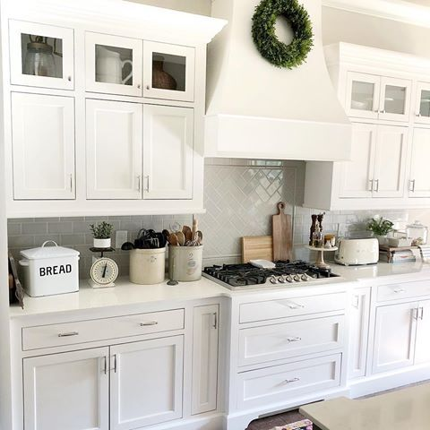 I Had Our Cabinet Maker Over Today To Take Measurements And Quote Me On Some Small Updates To Our Kitchen Basically To Make It A Litt Shaker Kitchen Cabinets White Shaker