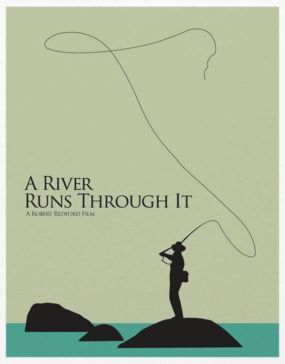 river runs through it * Paper size 11.7 X 16.5 (420 mm x 297 mm)  * Digital printed on 250g textured cardstock  * Generous white border for easy framing  * Frame not included
