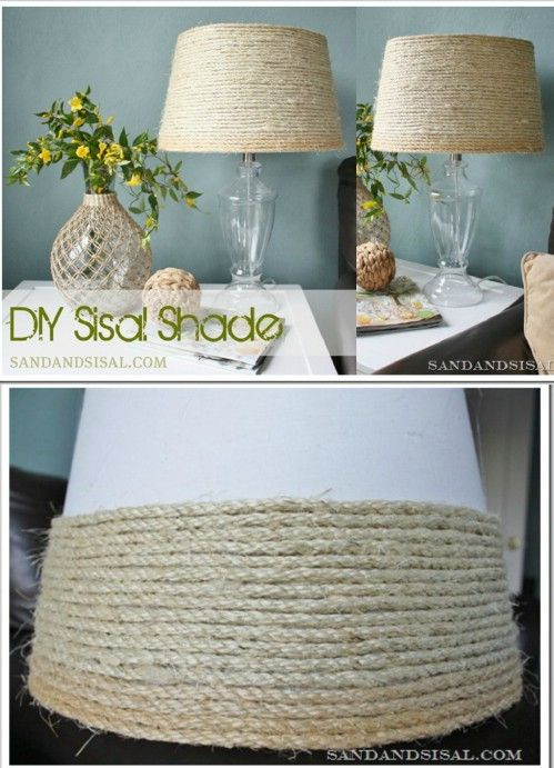 When it comes to decorating a home, I'm sure rope isn't one of the items that comes to mind as a way to decorate. But after seeing these great ideas, you will be running to the store to buy more rope!
