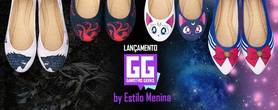 Nova linha de sapatilhas Garotas Geeks tem inspiração em Sailor Moon e Game of Thrones! - http://www.garotasgeeks.com/nova-linha-de-sapatilhas-garotas-geeks-tem-inspiracao-em-sailor-moon-e-game-of-thrones/