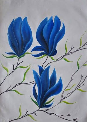 Contoh Seni Rupa 2 Dimensi : contoh, dimensi, Norman, Wijiharjo, Simpan, Gambar, Bunga,, Lukisan, Bunga