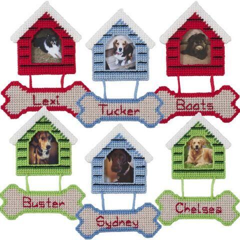 Dog House Ornaments Plastic Canvas Kit Plastic Canvas Patterns