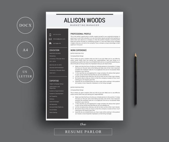 3 Page Resume Template INDD + DOCX by Basic Creations on - resume template indesign