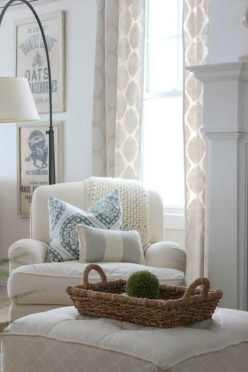 Proverbs 31 Girl   Living Rooms   Martha Stewart   Glass Of Milk   White  Upholstered Club Chair, Reading Chair, Reading Corner, White Reading |  Pinterest ...