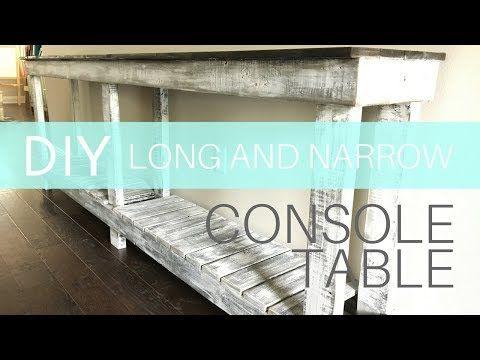 How To Build A Long And Narrow Farmhouse Console Table 30 Lumber Youtube Farmhouse Console Table Diy Farmhouse Table Console Table