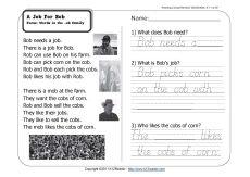 Worksheets 11th Grade Reading Comprehension Worksheets a job for bob reading comprehension worksheets bobs and 1st grade worksheet wk 11
