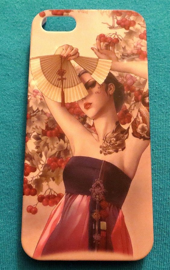 JAPANESE TATTOO WOMAN FITS IPHONE 5 CELL PHONE SKIN CASE COVER NEW #2