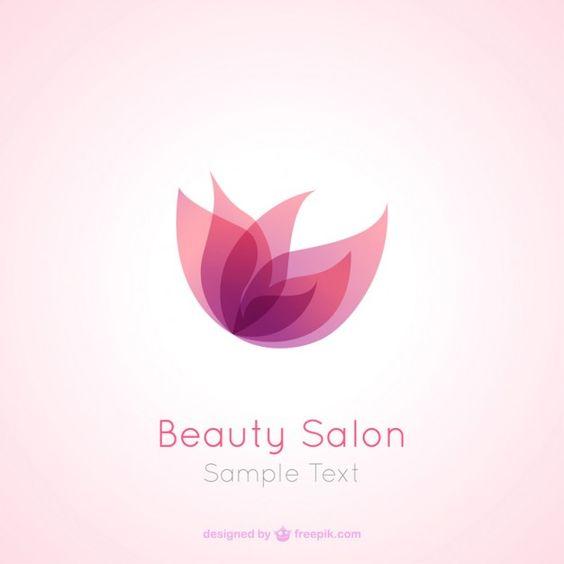 Salon de beauté logo Vecteur gratuit