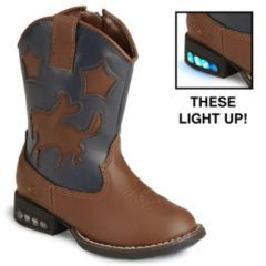 Roper Toddlers' Light Up Bronco Cowboy Boot