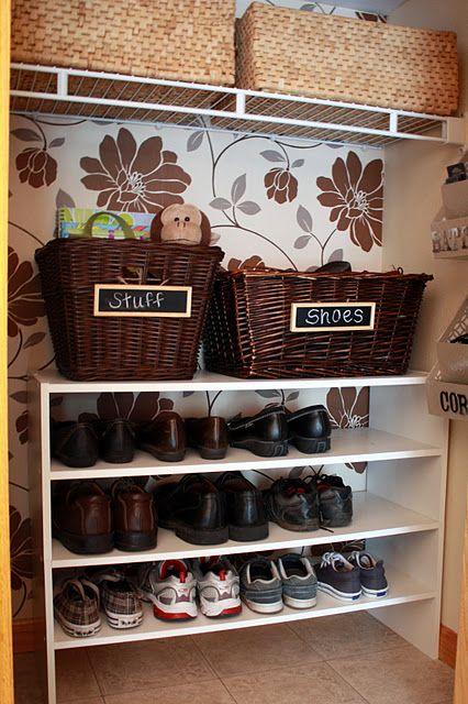 Front Closet....shoe organization