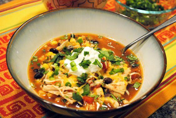 Chicken enchilada soup, Enchilada soup and Crock pot chicken on ...