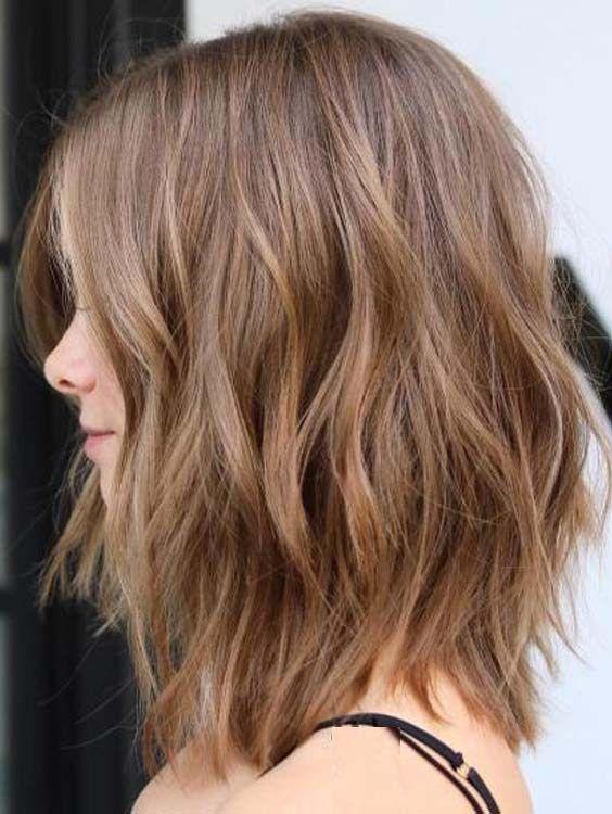 Best Medium Length Wavy Haircuts For Every Woman 2018 Long Layered Bob Hairstyles Wavy Haircuts Hair Styles