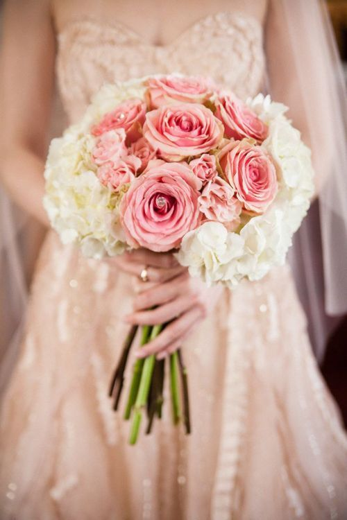 lush & lovely - simple pink bouquet