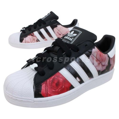 details about adidas originals superstar 2 w ii rose floral womens classic casual shoes. Black Bedroom Furniture Sets. Home Design Ideas