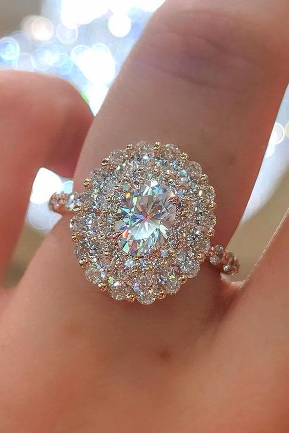 Halo Diamond Wedding Ring
