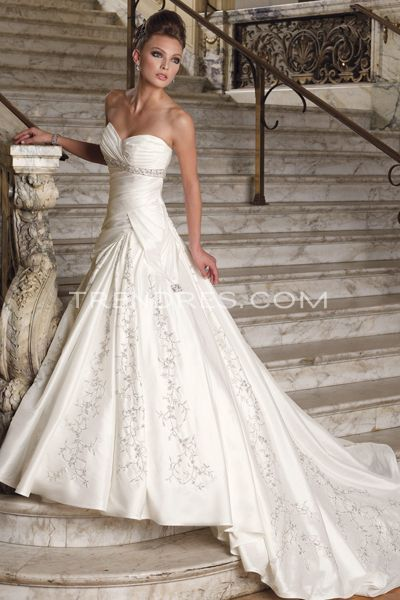Beautiful wedding and fitted bodice on pinterest for Beautiful fitted wedding dresses