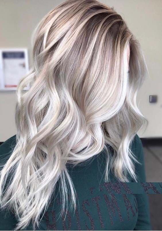 Cool Ash Blonde Balayage Shades Silver Shoulder Length Straight