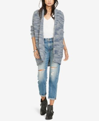 Denim & Supply Ralph Lauren Shawl Sweater $185.00 Pull on this elongated shawl-collar cardigan from Denim & Supply Ralph Lauren for cool nighttime hangouts around a fire pit and crisp morning coffee runs. In a textural wool-blend, it exudes bohemian rusticity.