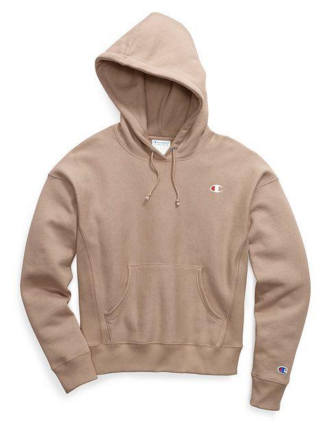 brown champion hoodie