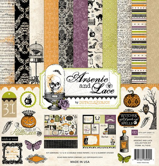 Echo Park - Arsenic and Lace Collection - 12 x 12 Collection Kit at Scrapbook.com