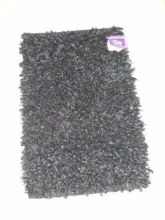 20x30 Girls Bedroom Decor Black Sparkle Rag Throw Rug