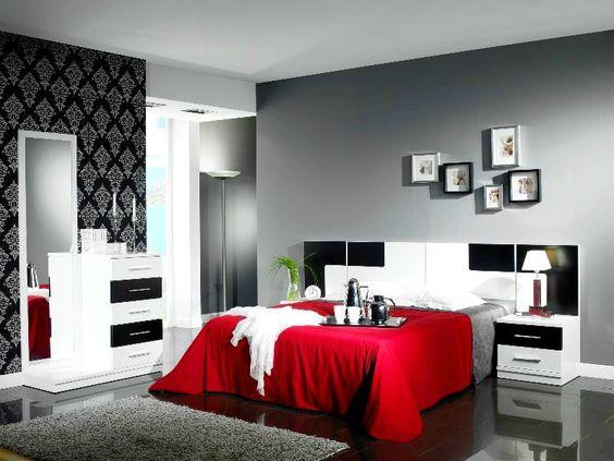 Rojo y negro...hoy le ofrecemos algunas propuestas de decoración ...