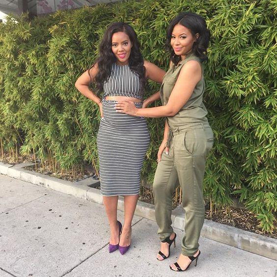 Angela Simmons & her sister Vanessa Simmons.