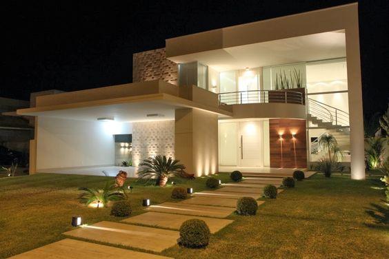 Construindo Minha Casa Clean: Fachadas de Sobrados Modernos - Confira 30 Ideias!