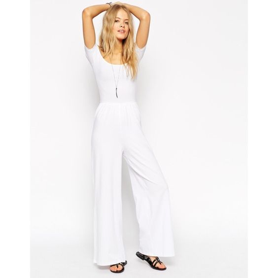 White Asos jumpsuit Love it but I don't wear it enough. Perfect for spring & summer! It's a petite sizes jumper! ASOS Other