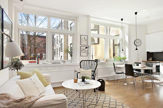 Mini piso nórdico de 36 m²