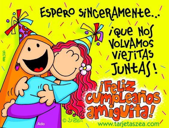 Frases De Amigas Por Siempre | Tarjetas de cumpleaños | Tarjetas Zea - tarjetas, imagenes de amor ...