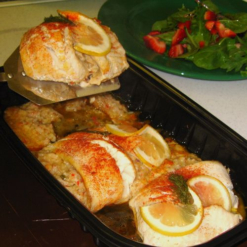 Pinterest the world s catalog of ideas for Stuffed fish with crab meat