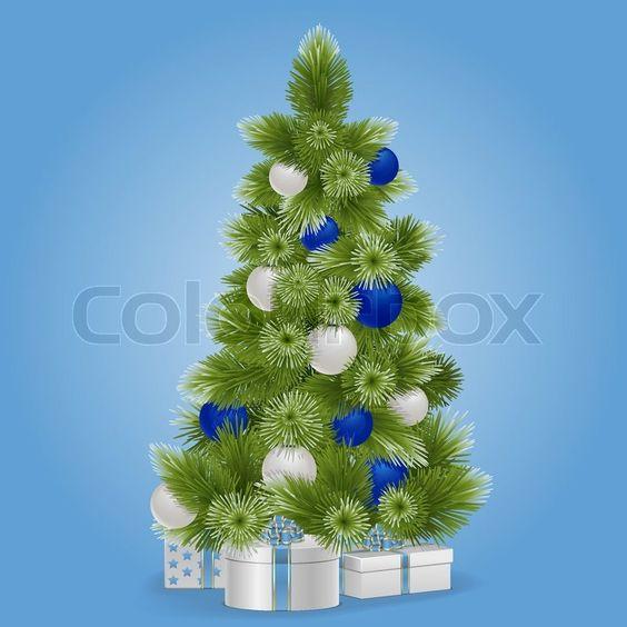 Stock-Vektor ✓ 17 Mio. Bilder ✓ Hohe Qualität fürs Web und Print | Vektor verschneit Weihnachtsbaum
