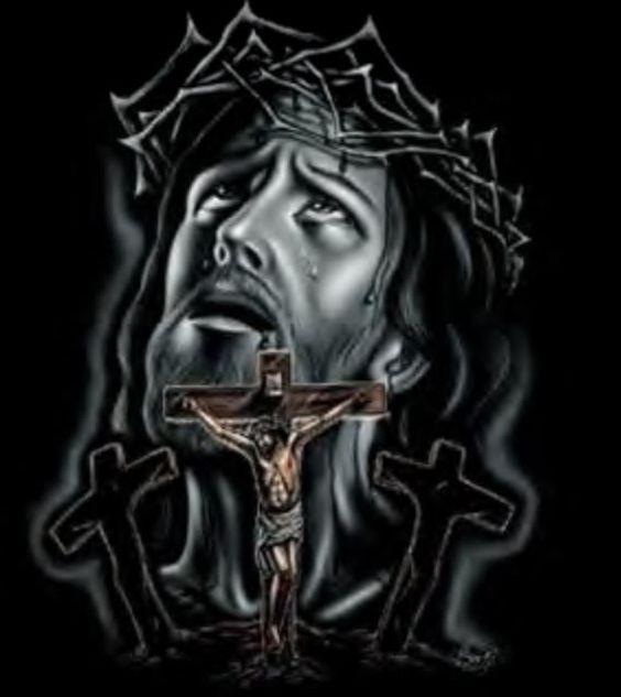 JESUS crucificado, o DEUS que é  nossa salvação.