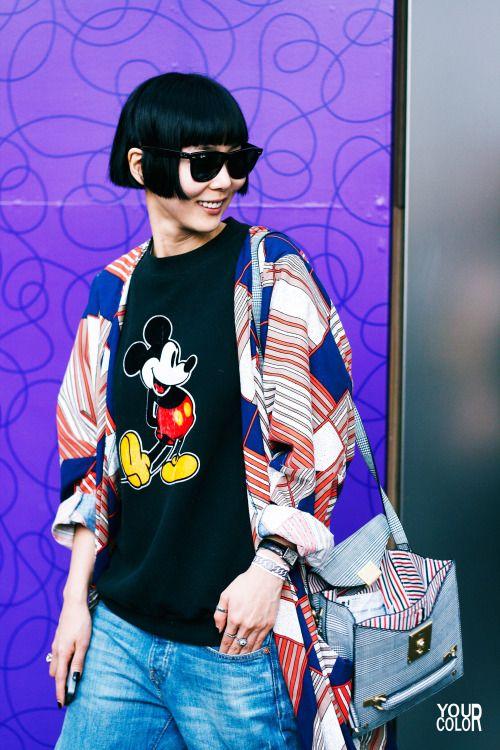 koreanmodel:  Streetstyle: Kim Na Young by Park Ki Yeon at Seoul Fashion Week S/S 2014