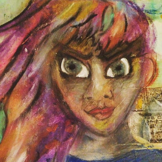 Oil pastel portrait by @worldofimmensum
