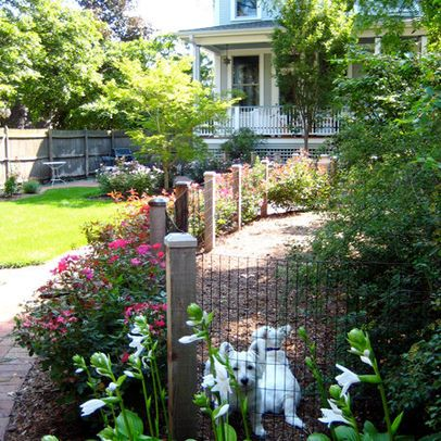Pretty yard with dog area chicago pat bernard design for Pretty fencing ideas