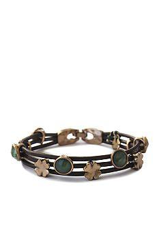 Lucky Brand Jewelry Green Leather Bracelet    #Scrubs #Nurses #Nursing #StudentNurse #SmittenScrubs @Smitten Scrubs #healthcare #uniforms #NursingUniforms #StPatricksDay