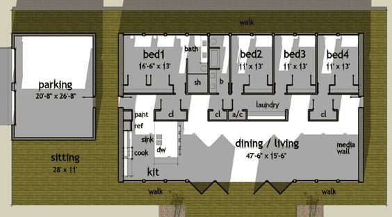Plan TD Oriental Inspired Modern Loft Style Living
