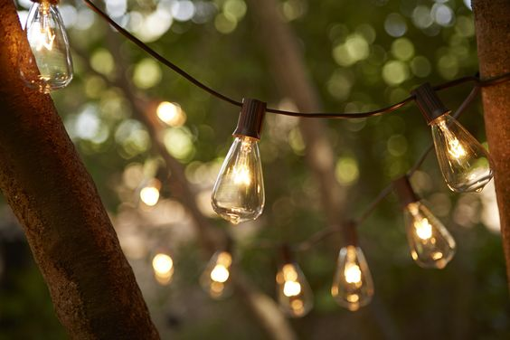 String Lights At Night : String these stunning Edison style light bulbs from your patio. They re perfect for outdoor ...