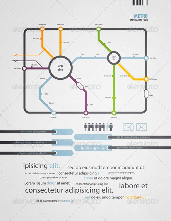Infographics subway in the old style - Infographics  #infographic #graphic #design #graphicdesign #web #graph #stats #chart #statistic #pie #vector #eps #illustrator #subway #metro #map #train #location